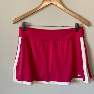 NWOT Nike classic Tennis skirt Pink White Med